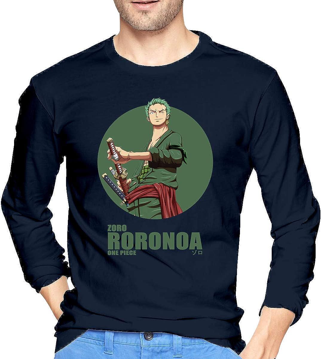 Vdaras Tops Tee One Roronoa Zoro P-i-e-c-e Camisetas de manga ...