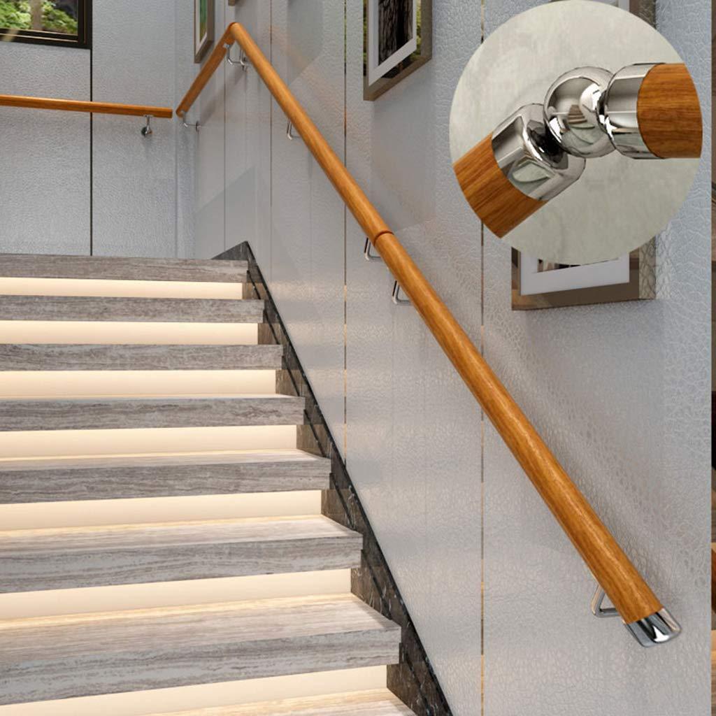 HRXAN-Pasamanos Escaleras de Madera Maciza Escalera Barandilla Barandilla Soporte de riel Kit 30-300cm Acero Inoxidable 50mm: Amazon.es: Hogar