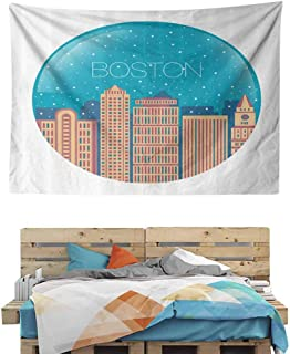 HuaWuChou Snow Globe Inspiration Colorful Tapestry, Wall Decor Tapestries for Bedroom, Living Room, 59W x 39.3L Inches
