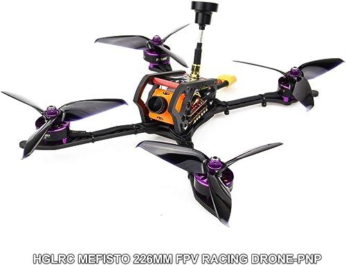 Ballylelly-RC-Drohne mit CameraHGLRC 2306 4-5S Mefisto 226mm Kohlefaser-Radstand FPV RC-Drohne Quadcopter PNP mit F4 Betaflight OSD 600TVL-Kamera