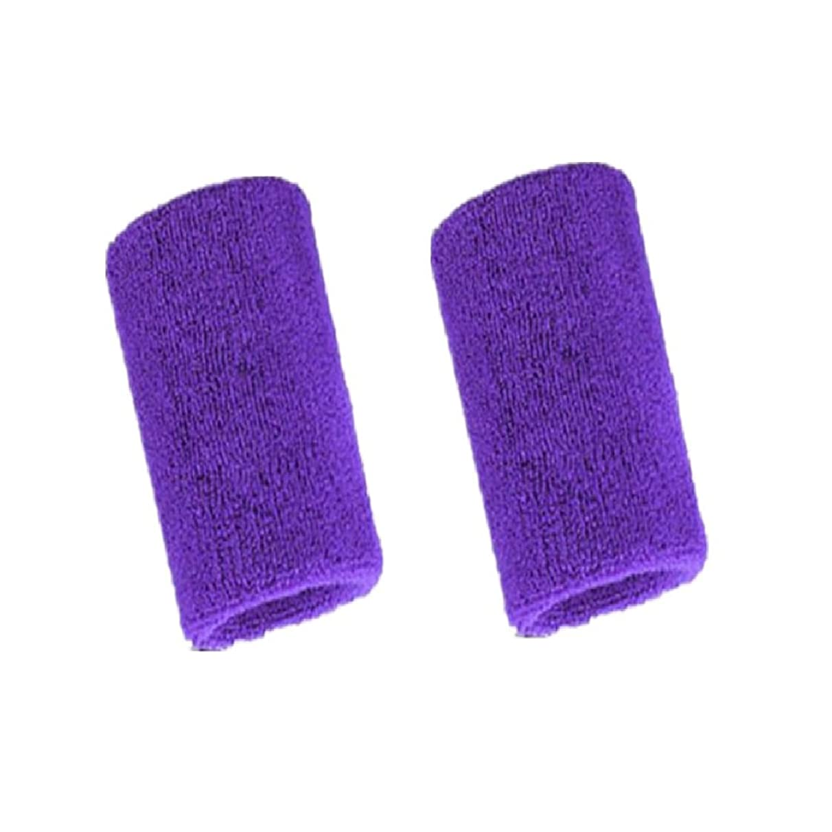 Mcolics 4' Inch Wrist Sweatband in 11 Athletic Cotton Wristbands Armbands (1 Pair)