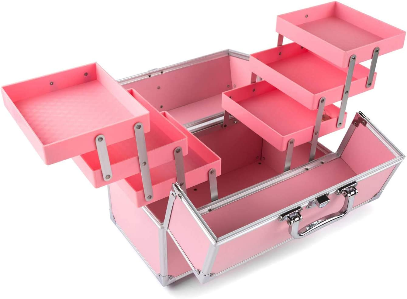 AFYH Large Makeup Box 6 Case Organiser Trays San Diego Mall Cosmetic Recommended