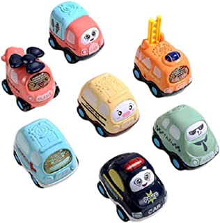 7PCS Toddler Infant Early Learning Car Educational Toys Boys And Girls Toys Inertial Friction Power Push-pull Baby Toy Car...