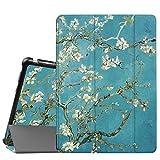 Fintie Huawei Mediapad M3 Lite 10 Hülle - Ultra Dünn Superleicht SlimShell Case Cover Schutzhülle Etui Tasche mit Zwei Einstellbarem Standfunktion für Huawei Mediapad M3 Lite 10 Zoll, Mandelblüten
