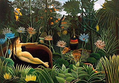 1art1 Henri Rousseau - Der Traum, 1910, 3-Teilig Fototapete Poster-Tapete 360 x 250 cm