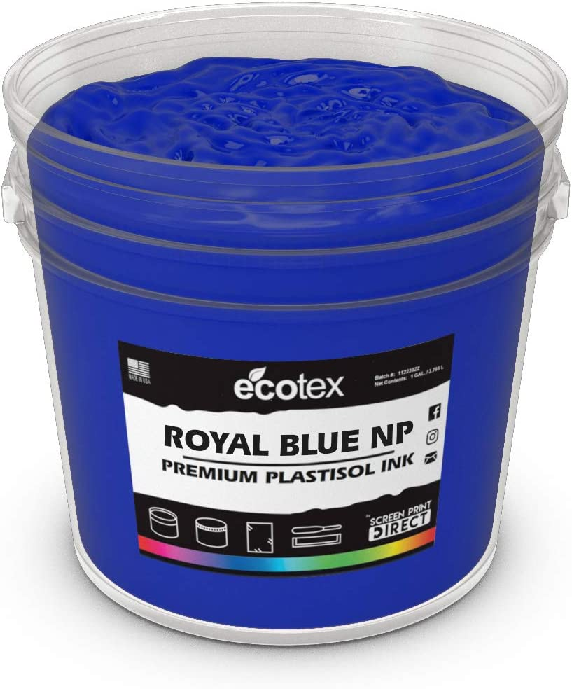 Ecotex Royal Blue NP Plastisol Ink Direct store Super special price Screen Non Printing for Phtha