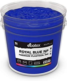 Ecotex Royal Blue NP Plastisol Ink for Screen Printing - Non Phthalate Formula - All Sizes (Quart)