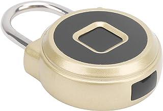 Vingerafdruk Smart Hangslot, Antidiefstal Smart Lock IP67 Waterdicht Keyless USB Opladen Biometrisch Hoge Beveiligingsslot...