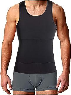 4b3f3b02ef8d Bingrong Faja Reductora para Hombre Chaleco Adelgazante para Hombre Camiseta  elástica para Abdomen Ropa Interior Reductora