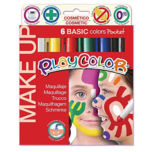 Maquillaje PLAYCOLOR Make UP Basic Pocket de 5 g Caja de 6 Unidades Surtido