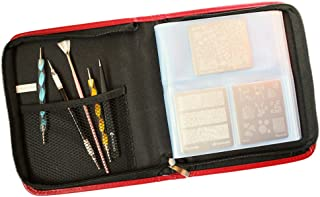 Winstonia Nail Art Stamping Plate Organizer Holder Zipper Carrying Case