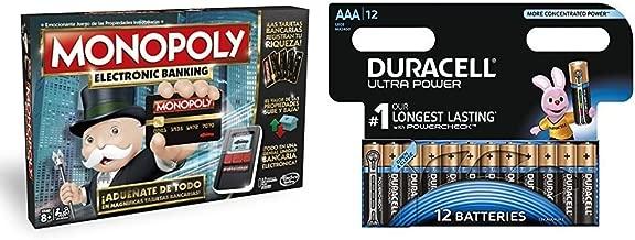 Monopoly - Electronic banking (Hasbro B6677105) con Duracell Ultra Power - Pack DE 12 Pilas alcalinas AAA: Amazon.es: Juguetes y juegos