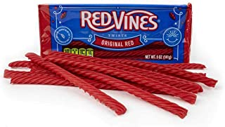 Red Vines Licorice, Original Red Flavor, 5oz Trays (12 Pack), Soft & Chewy Candy