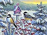 5D DIY diamante pintura punto de cruz pájaro diamante bordado invierno mosaico pared arte decoración del hogar diamante pintura A9 40x50cm