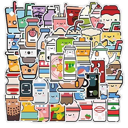 LSPLSP Bonitas Pegatinas de Dibujos Animados para Bebidas, Motocicleta, Equipaje de Viaje, Guitarra, monopatín, Broma Impermeable, Pegatina de Grafiti, calcomanía / 50 Uds