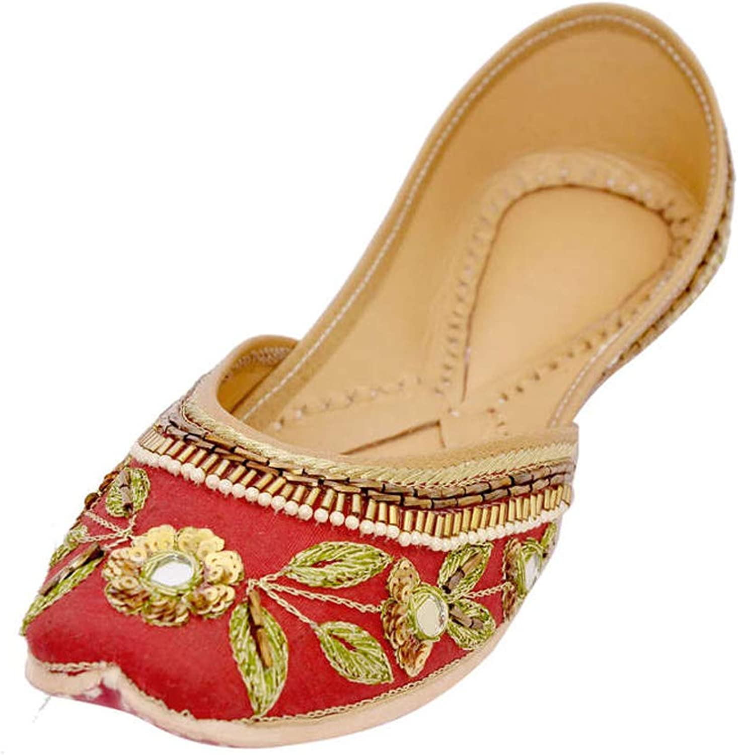 IMP Alluring Red Handmade Pure Leather Jutti822