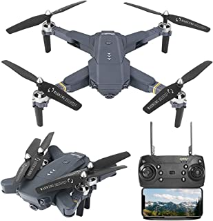 B-Qtech Drone with Camera for Kids & Adults & Beginners,Foldable WiFi RC Quadcopter Drone with Real-time Transmission, Altitude Hold, One-Key Take-Off (Carrying 2 Batteries)