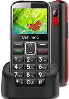 """3G Dual Sim Big Button Mobile Phone Unlocked for Elderly,2.4"""" Large Screen,Hearing Aid Compatible Easy to Use Sim Free Bas..."""