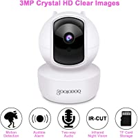 GOOJODOQ 3MP HD Pan/Tilt WiFi Security Camera with Motion Detection Alert, Night Vision Camera