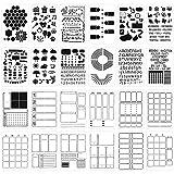 24Pcs Journal Stencils for Journaling Plastic...