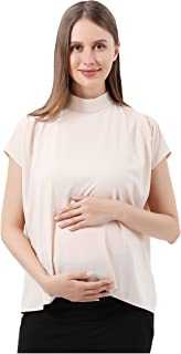 Sponsored Ad - Maternity Blouse for Work Pregnancy Top Short Sleeve Shirt Formal Women Chiffon