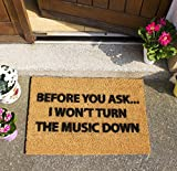 CKB LTD® LOUD MUSIC Novelty DOORMAT Unique Doormats Front/Back Door Mats Made with a non-slip PVC backing - Natural coir - Indoor & Outdoor