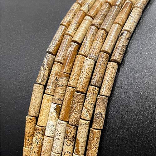 KUQIQI Perlas de Piedra Ocular de la Gema Natural Hawk Redondo Perlas espaciadoras Sueltas para la fabricación de Joyas 4 * 13mm Accesorios de Pulseras de Bricolaje 15.5'Wholesale