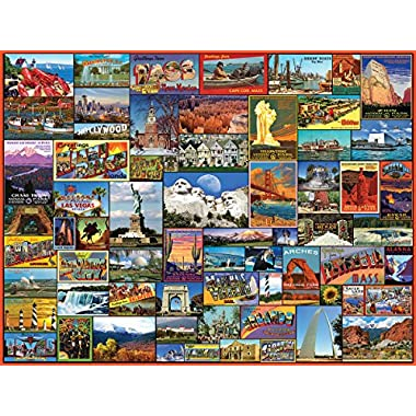 White Mountain Puzzles 1119 Best Places In America Jigsaw Puzzle, 24  x 30 , Transparent