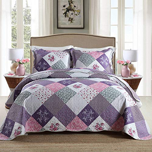 HoneiLife Quilt Set Queen Size -...