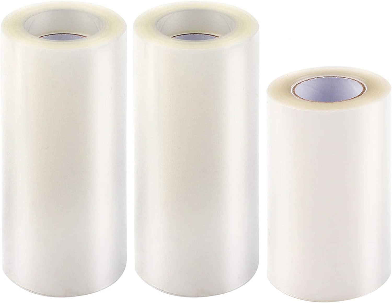Yangfei 3 Rollos Acetato Transparente Pastel Collar para Pasteles Papel de Acetato Reposteria, Cuello para Tartas Tiras de Tartas para Decoración de Repostería Pasteleria Pastel Mousse (8cm,10cm)