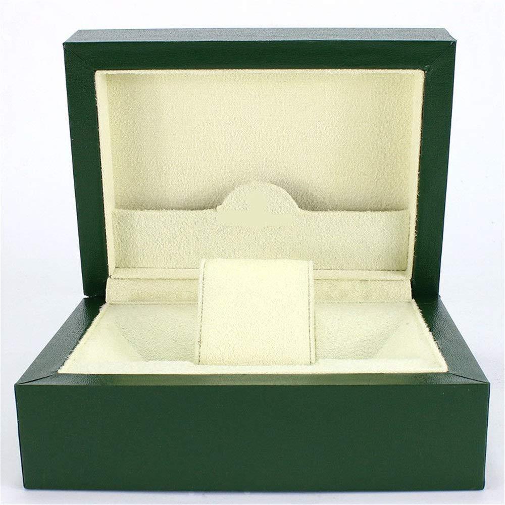 Caja de reloj para hombre Titular de sólidos Depósitos de joyería de madera del caso de la rejilla regalo caja de reloj individual de madera Para hombres o mujeres (Color :