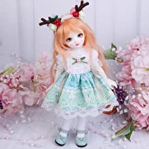 Children's Creative Toys BJD Doll Full Set 26inch 10inch Jointed Dolls+Wig+Skirt+Makeup+Shoes Surprise Gift Doll,B