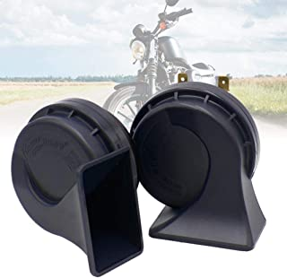 Ugthe 1 Pair Waterproof 105-118dB 12V Universal Car Motorcycle Loud Horn Air Siren