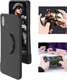 Volwco Mobile Game Controller Case for iPhone Xs Max, Phone Cover with BT for PUBG L1R1 Trigger Joystick Gamepad Grip Remote