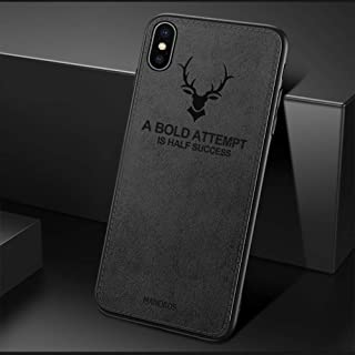 MANORDS Compatible iPhone X/XS Case, Soft Art Cloth & Soft TPU Edge Slim Protective Phone Case Cover (Deer)