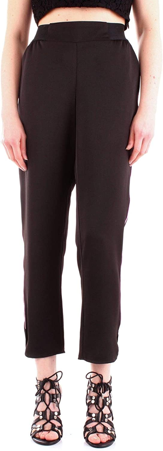 Silvian Heach Women's PGP19648PAblack Black Other Materials Pants