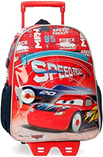 Cars Speed Trails Mochila con Carro, 38cm, Rojo
