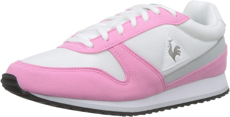 Le Coq Sportif Women's Alpha Ii Pink Carnation Optical White Trainers