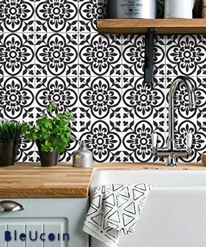 Fliesenaufkleber für Küche und Bad, marokkanisches Terrakotta, entfernbar, 44 Stück 6