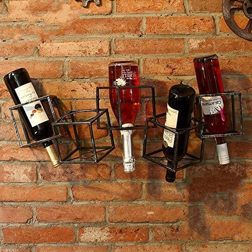 Equipo Vino Bricolaje Madera Maciza Estante de Vino Tinto Decoración del hogar Gabinete de Vino Soporte de exhibición Comercial Estante de Vino Creativo Personalizado Bambú Desmontable (Color: C3)