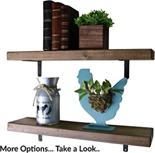 SDI Designs Rustic Farmhouse Floating Shelf Set , the Weathered Collection (36 Inch, Barnwood Brown)
