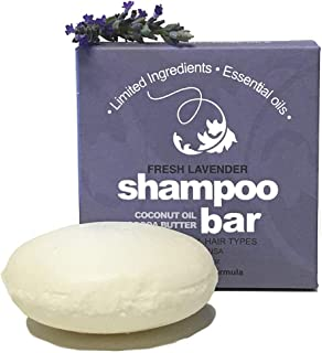 Whiff Botanicals Shampoo Bar, Lavender, Essential Oils, Limited Natural Ingredients, Essential Oils, Made in the USA