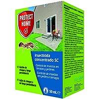 Protect Home - Insecticida Concentrado SC para el Control de Hormigas en Exteriores , Acción de Choque y Larga Persistencia, 50 ml, 12 x 7 x 3 cm, Verde Agua