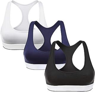 ZeroBound 3-PackWomen's Racerback Sports Bra for Seamless Super Comfort Bra for Yoga Gym Workout Fitness