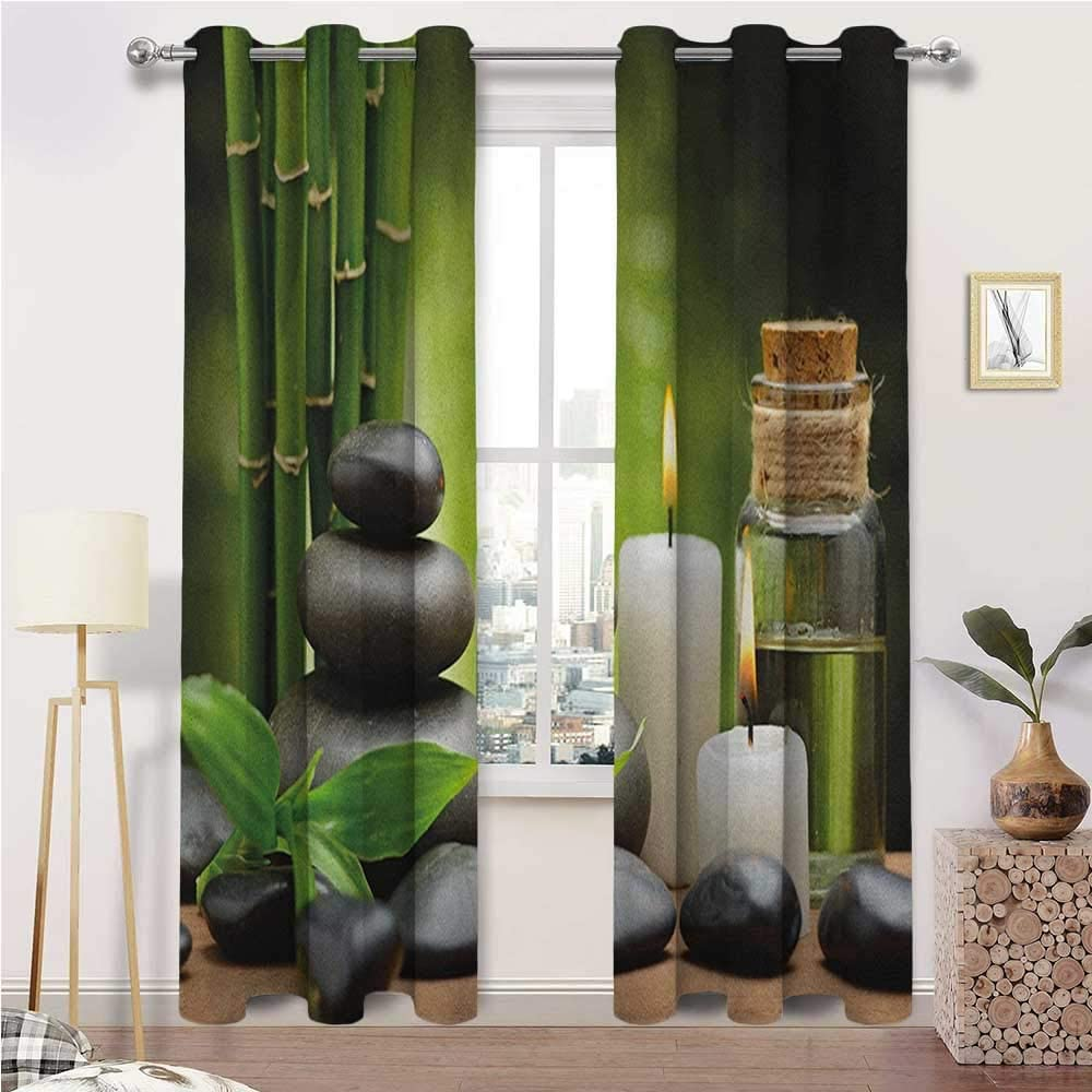 Curtain Panels Spa Wide Keep Warm Massage 割引 Hot 全品送料無料 Draperies Rocks Co