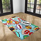 Oedim Alfombra Cómic para Habitaciones PVC | 300 x 200 cm | Moqueta PVC | Suelo vinílico | Decoración del Hogar | Suelo Sintasol | Suelo de Protección |