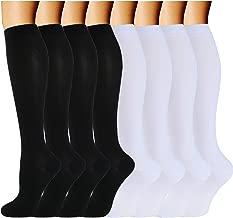 ACTINPUT Compression Socks (8 Pairs) for Women & Men 15-20mmHg - Best Medical,Running,Nursing,Hiking,Recovery & Flight Socks