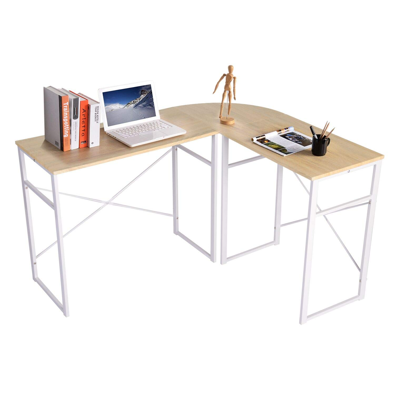 Furnish 1 Escritorio de Esquina, Mesa de Ordenador en Moderno Forma L, Mesa de Estudio Esquina: Amazon.es: Hogar