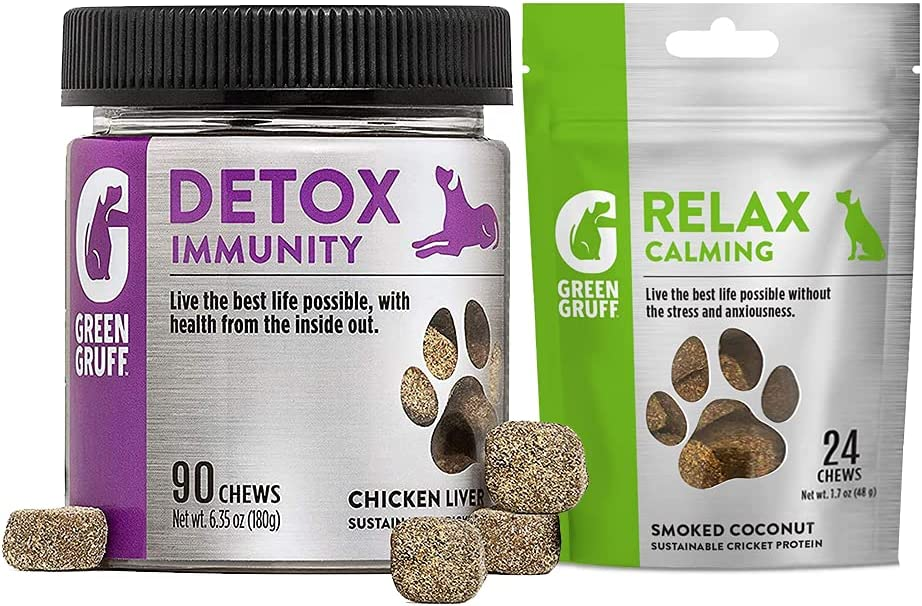 Green Gruff Dog Large-scale sale Probiotics Digestive Chews Calming Outlet ☆ Free Shipping Enzymes and