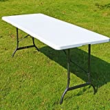 Casaria mesa de camping picnic eventos plegable blanco para todo tipo de eventos se convierte en maleta 182 x 76 x 74 cm
